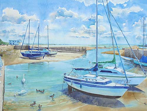 Painting by watercolour artist Elaine Reed